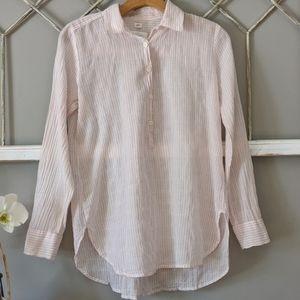 LOFT pinstriped popover Softened shirt Small
